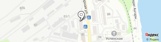 Ливиофан на карте Иркутска
