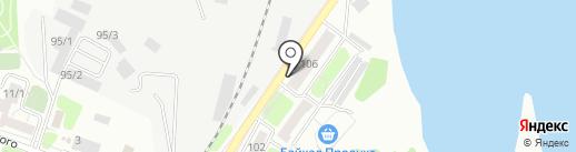 Сластёна на карте Иркутска