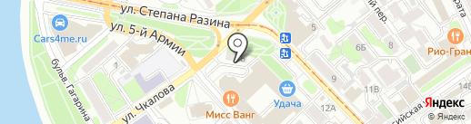 Варвара на карте Иркутска