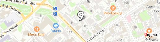 Бичиханов Палас на карте Иркутска