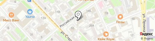 Областная на карте Иркутска
