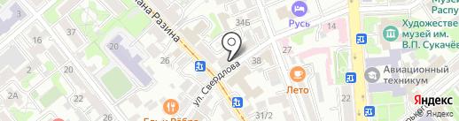 Магазин канцелярских товаров на карте Иркутска