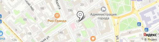 Спортсервис Континент на карте Иркутска