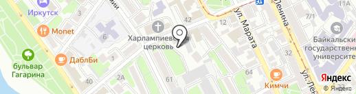 Шикша на карте Иркутска