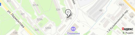 Полюс на карте Иркутска