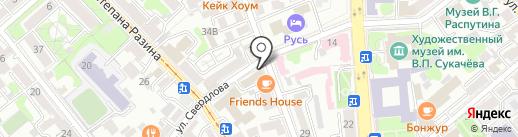 Адвокат Саенко И.В. на карте Иркутска