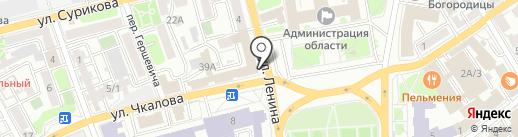 Рельеф-Иркутск на карте Иркутска