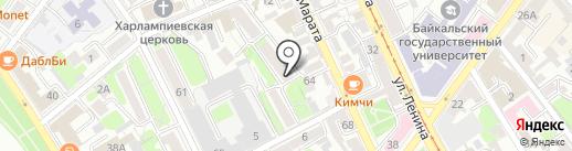 Зрение на карте Иркутска