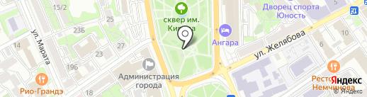 Информационно-туристская служба г. Иркутска, МКУ на карте Иркутска
