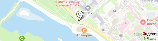 Киоск фастфудной продукции на карте Иркутска