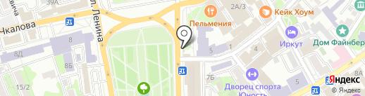 Магазин сувениров на карте Иркутска