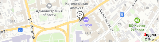 Объединение юристов и адвокатов на карте Иркутска