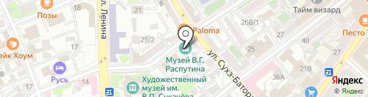 Мегастрой на карте Иркутска