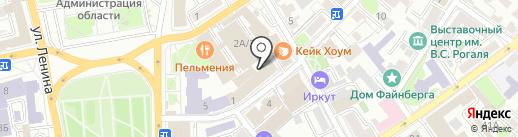 Мастерская по ремонту и пошиву одежды на карте Иркутска