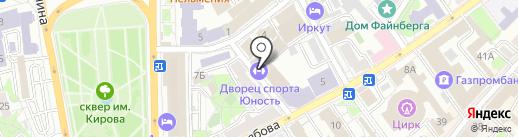 Юность на карте Иркутска