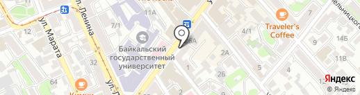 More Coffee на карте Иркутска