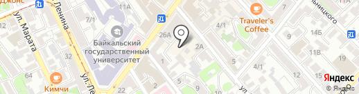 Полиграф принт на карте Иркутска