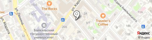 Баланс на карте Иркутска
