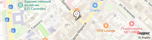 Мята на карте Иркутска