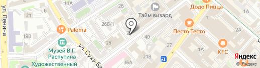 Строй Гранд на карте Иркутска