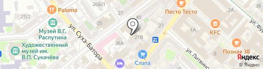 Лаборатория С на карте Иркутска