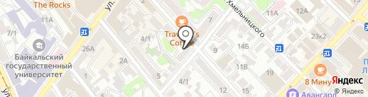 Сервико на карте Иркутска