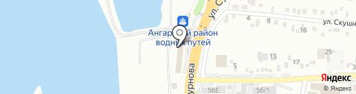 Алишер на карте Иркутска