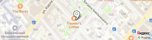 Декабрист на карте Иркутска