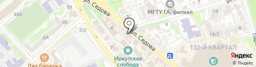 Штоф на карте Иркутска