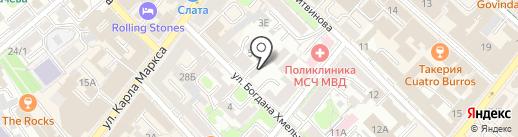 Семь старцев на карте Иркутска