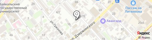 Адвокат Быков П.Н. на карте Иркутска