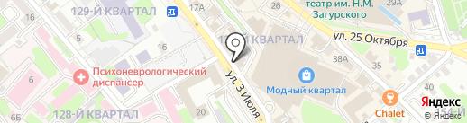 Улус на карте Иркутска