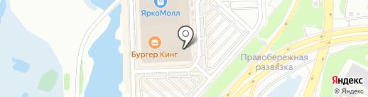 Бантик на карте Иркутска