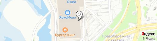 Оранжевый слон на карте Иркутска