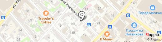Градус38 на карте Иркутска