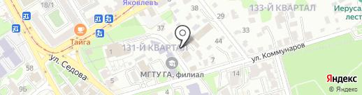 Брэнд на карте Иркутска