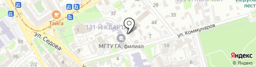 Байкальская компания Капитал на карте Иркутска