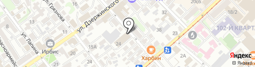 Бригадир на карте Иркутска