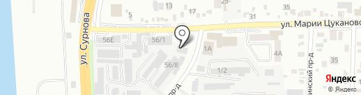 Кореец на карте Иркутска
