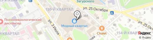 Atlet на карте Иркутска