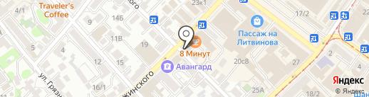 ЗДЕСЬ на карте Иркутска