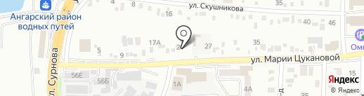Армада на карте Иркутска