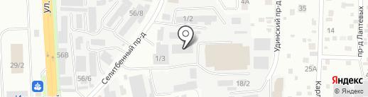 Хоол на карте Иркутска