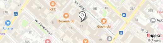 Фламинго на карте Иркутска