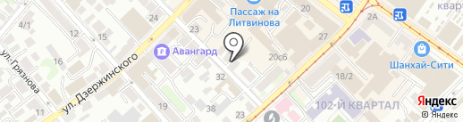 Автопарковка на карте Иркутска