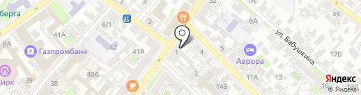 АСТРЕЯ на карте Иркутска