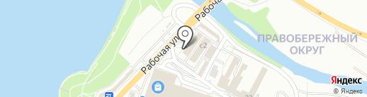 Магазин мясных продуктов на карте Иркутска