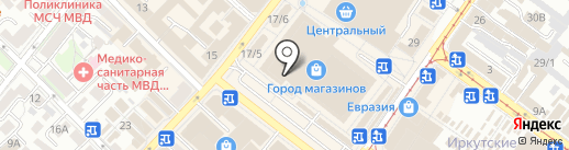 Магазин верхней женской одежды и головных уборов на карте Иркутска