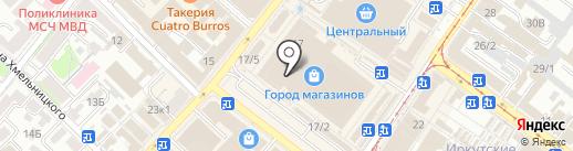 Магазин детской одежды на карте Иркутска