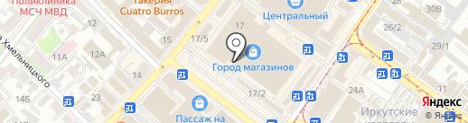 Магазин женской и верхней одежды на карте Иркутска